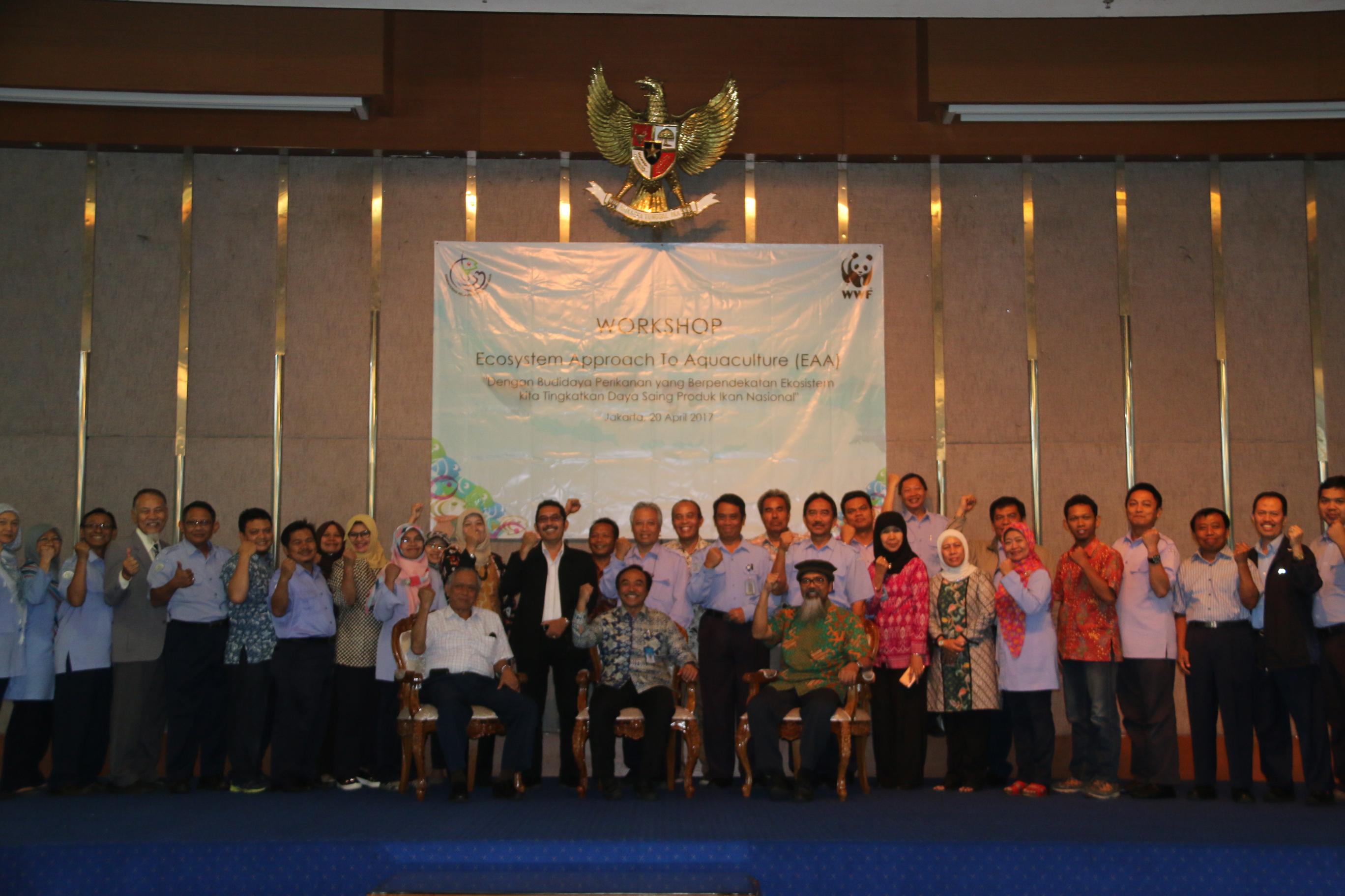 WORKSHOP ECOSYSTEM APPROACH TO AQUACULTURE KERJASAMA DENGAN WWF DI JAKARTA